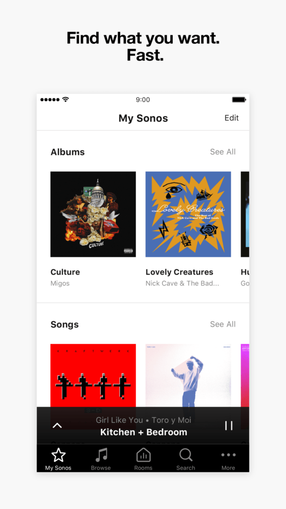 Sonos find what you want